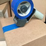 Permanent tamper evident box tape