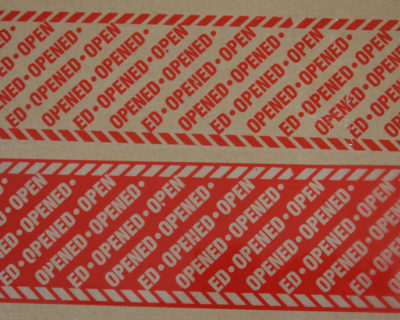 Red Covert Tamper Evident Security Tape