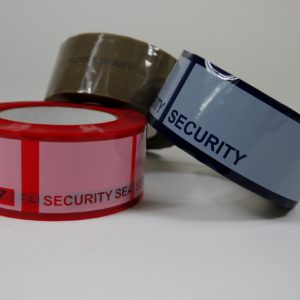 Tamper evident security box tape group shot