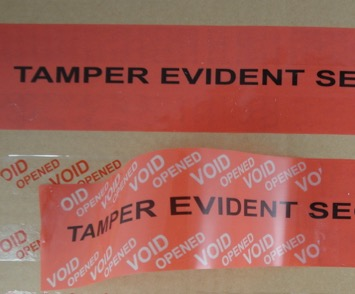 red tamper evident box tape