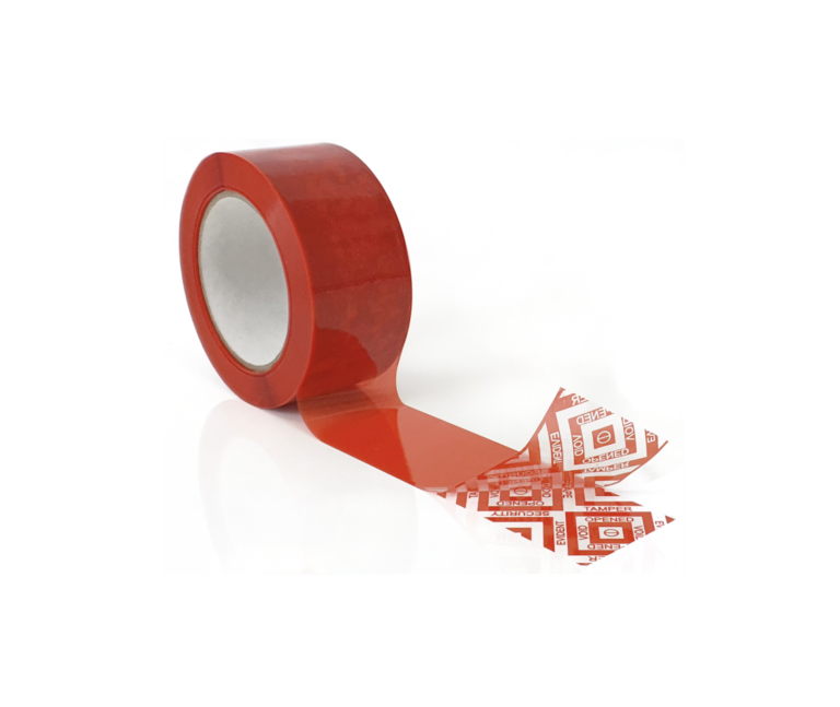 DR7344 Red Covert Box tape with New Standard Void