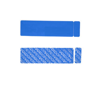 Non Residue Tamper Evident security label with Dual Number Tab