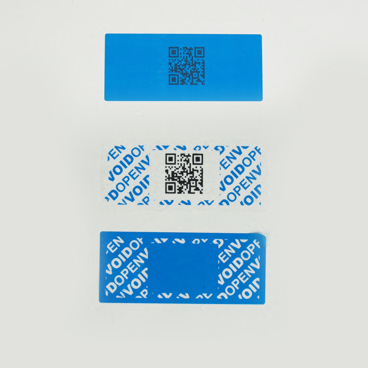 Perm label with subsurface QR