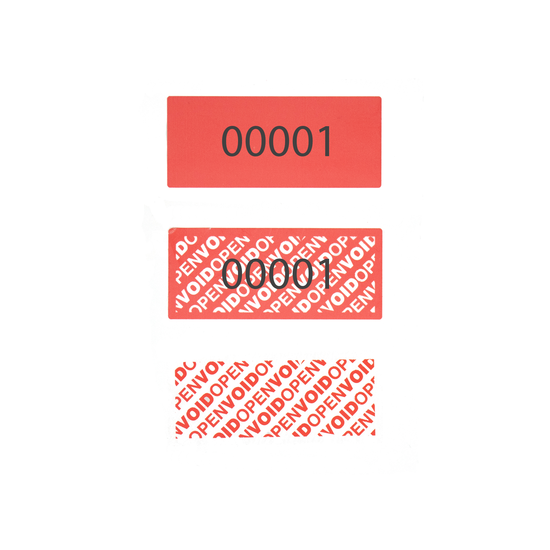 Permanent Tamper Evident Security Labels with Numbers