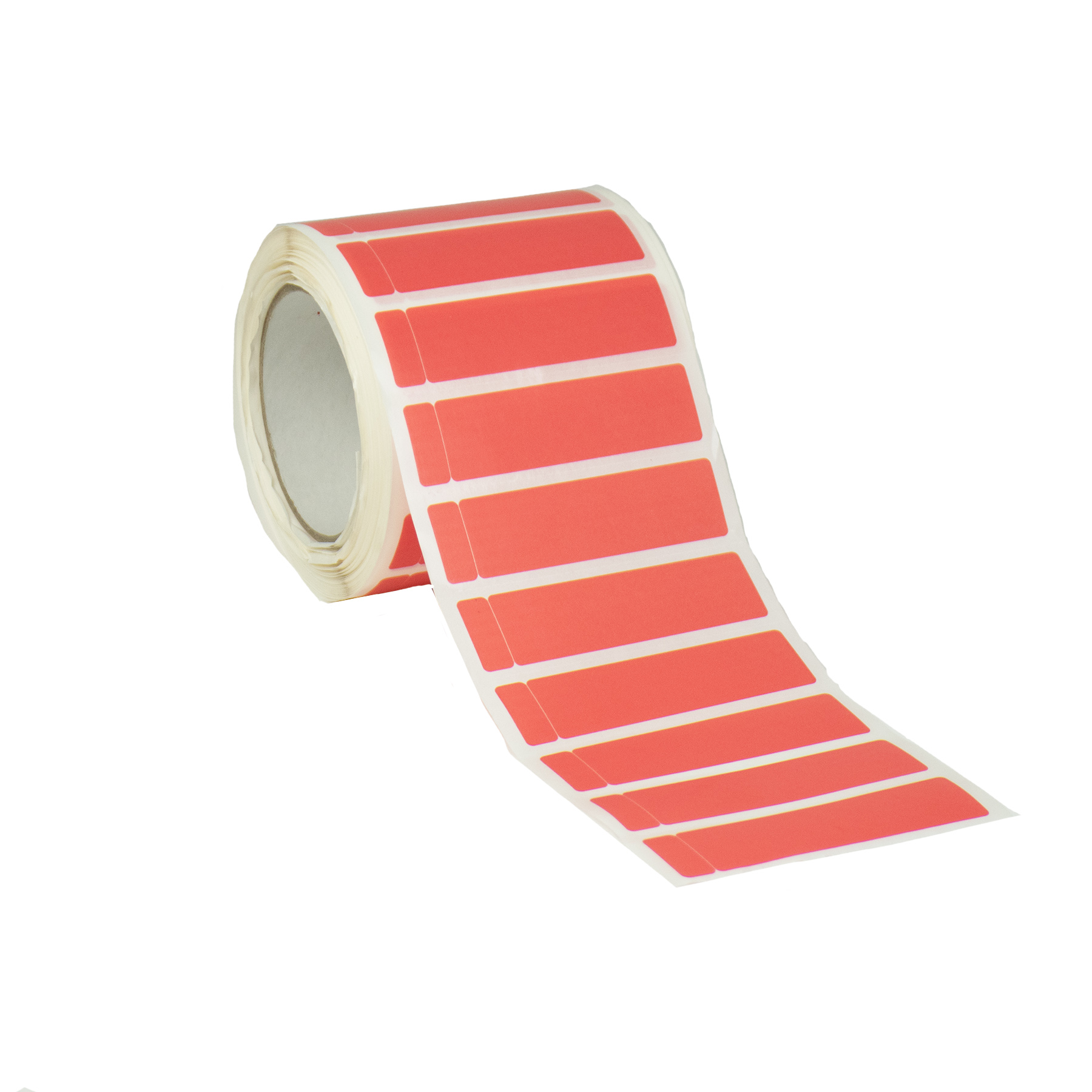 Permenant red tamper evident security labels with DNT