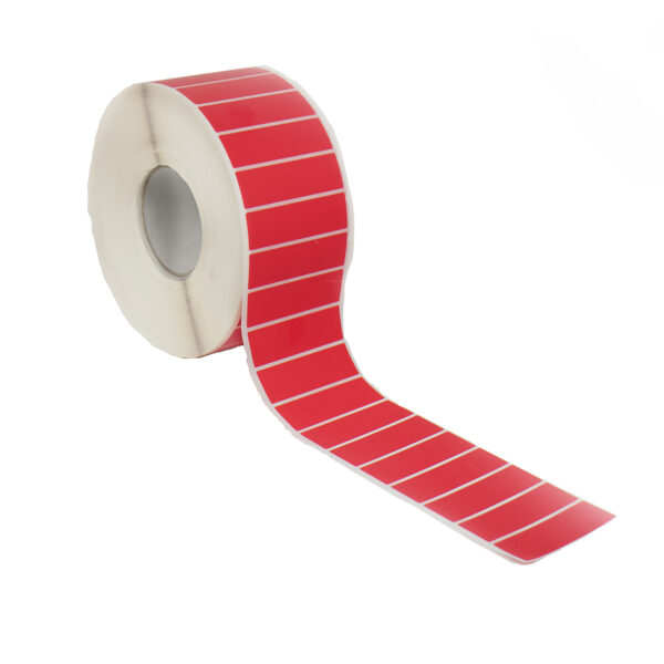 Red 85x25 Non-residue Tamper Evident Label