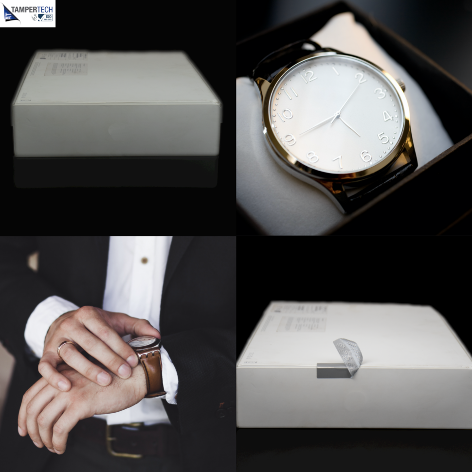 Tamper Tech Tamper Evident security labels protecting luxury watches