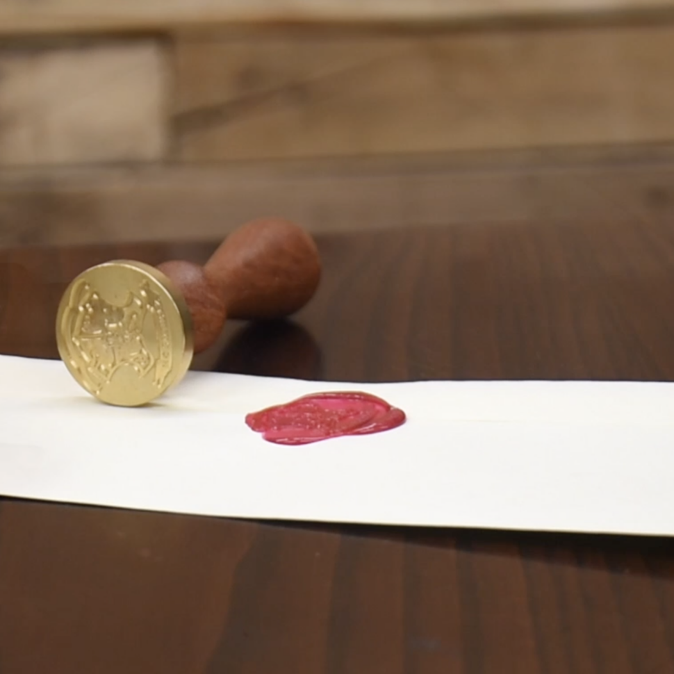 The original tamper evident security Wax Seal on envelope