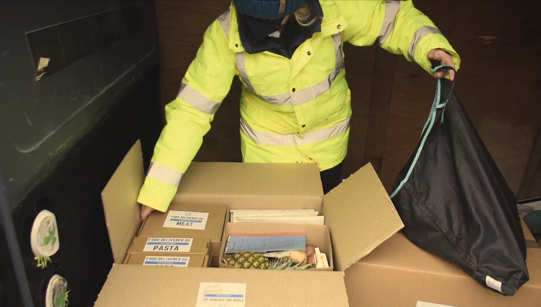 Delivery Driver stealing food from subscription meal kit