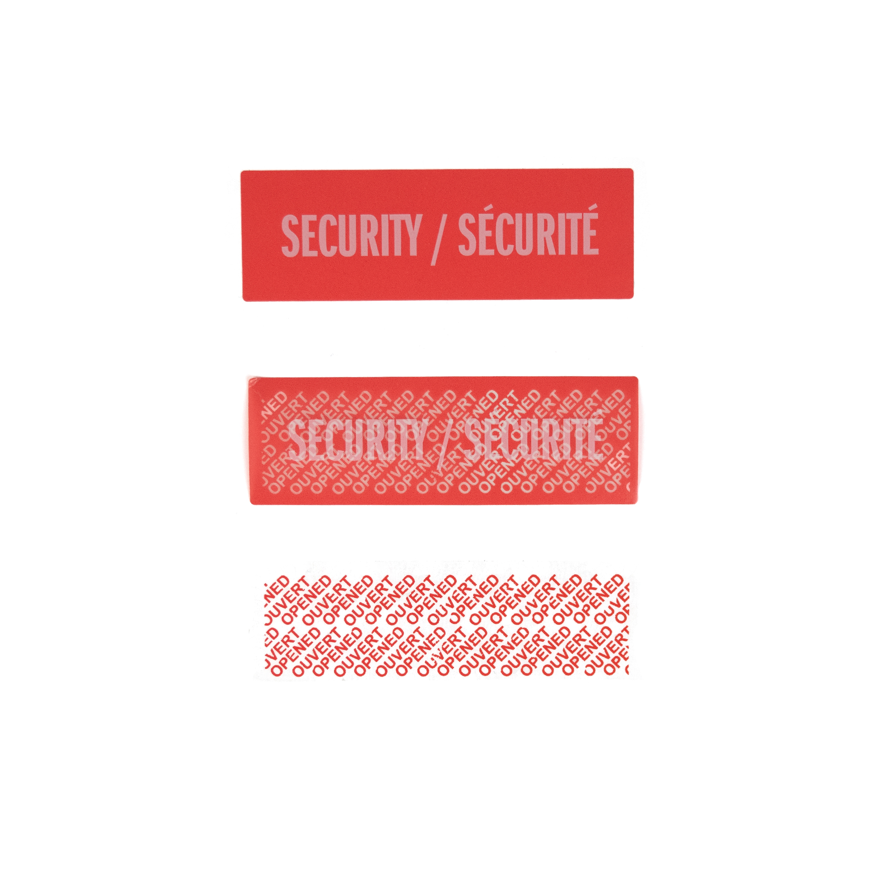 Permanent Tamper evident Security Label with Surface print