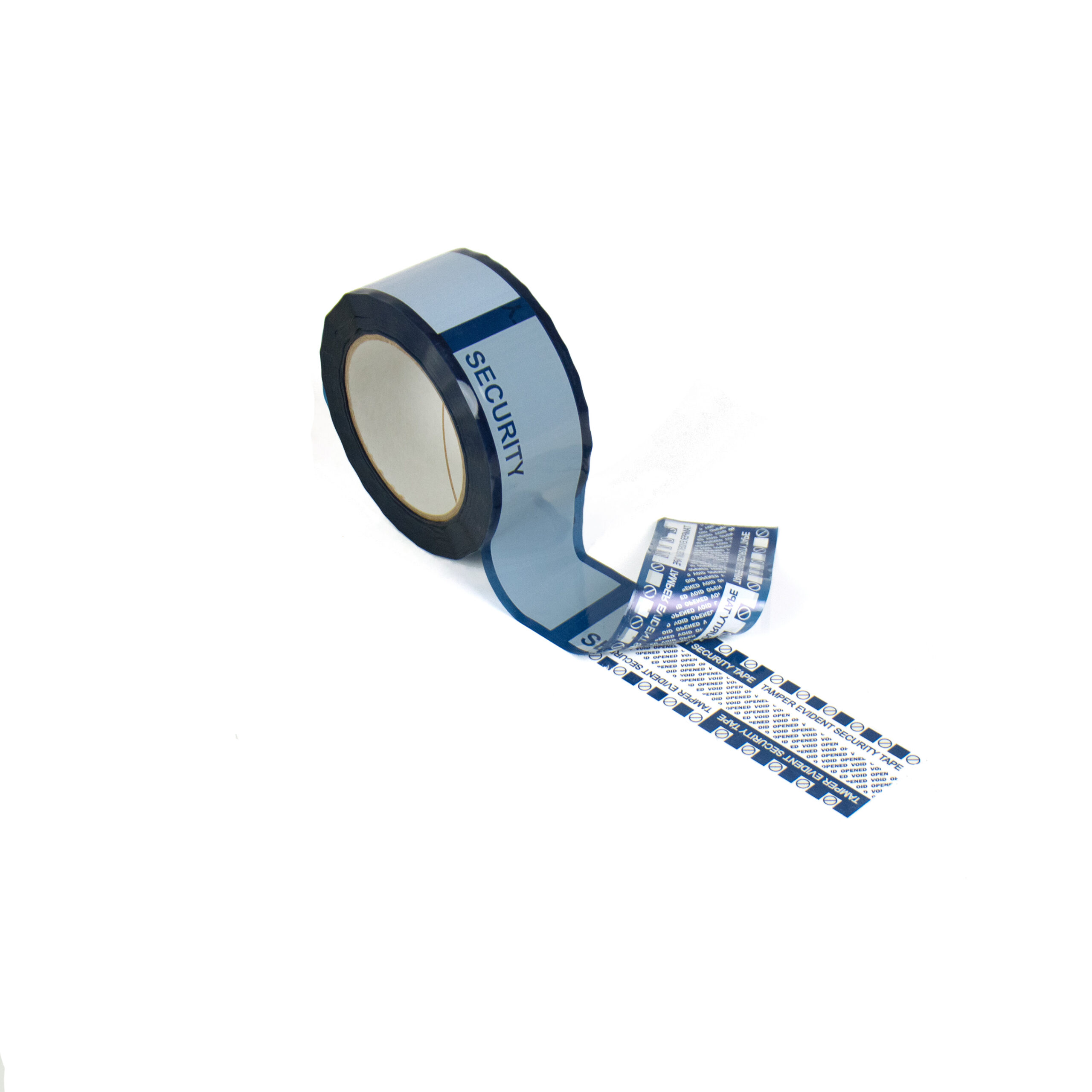 Blue Tamper Evident security Box tape with new standard void message option