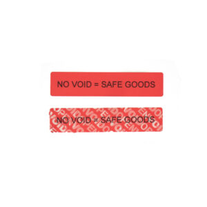 non residue tamper evident security label with custom surface print