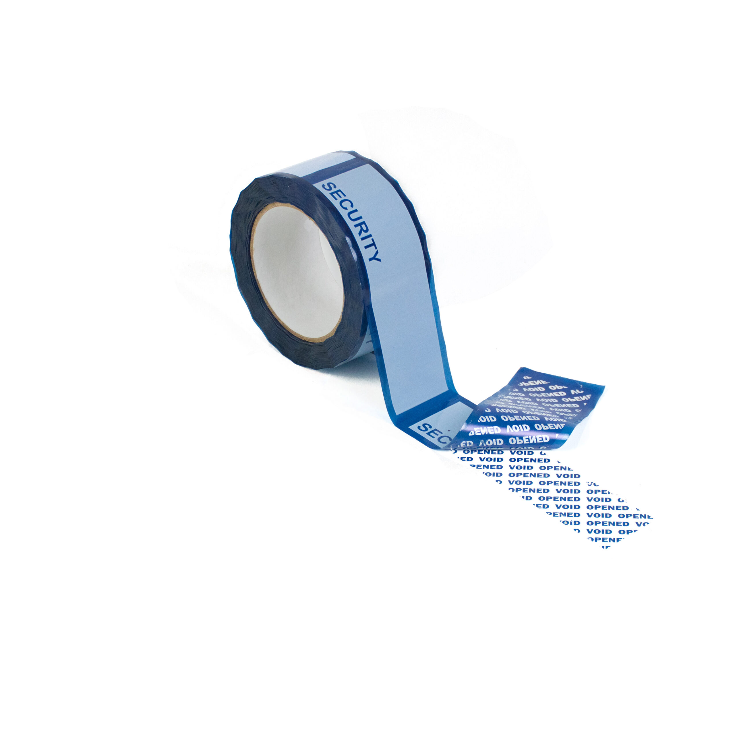 standard blue tamper evident security box tape with perforations