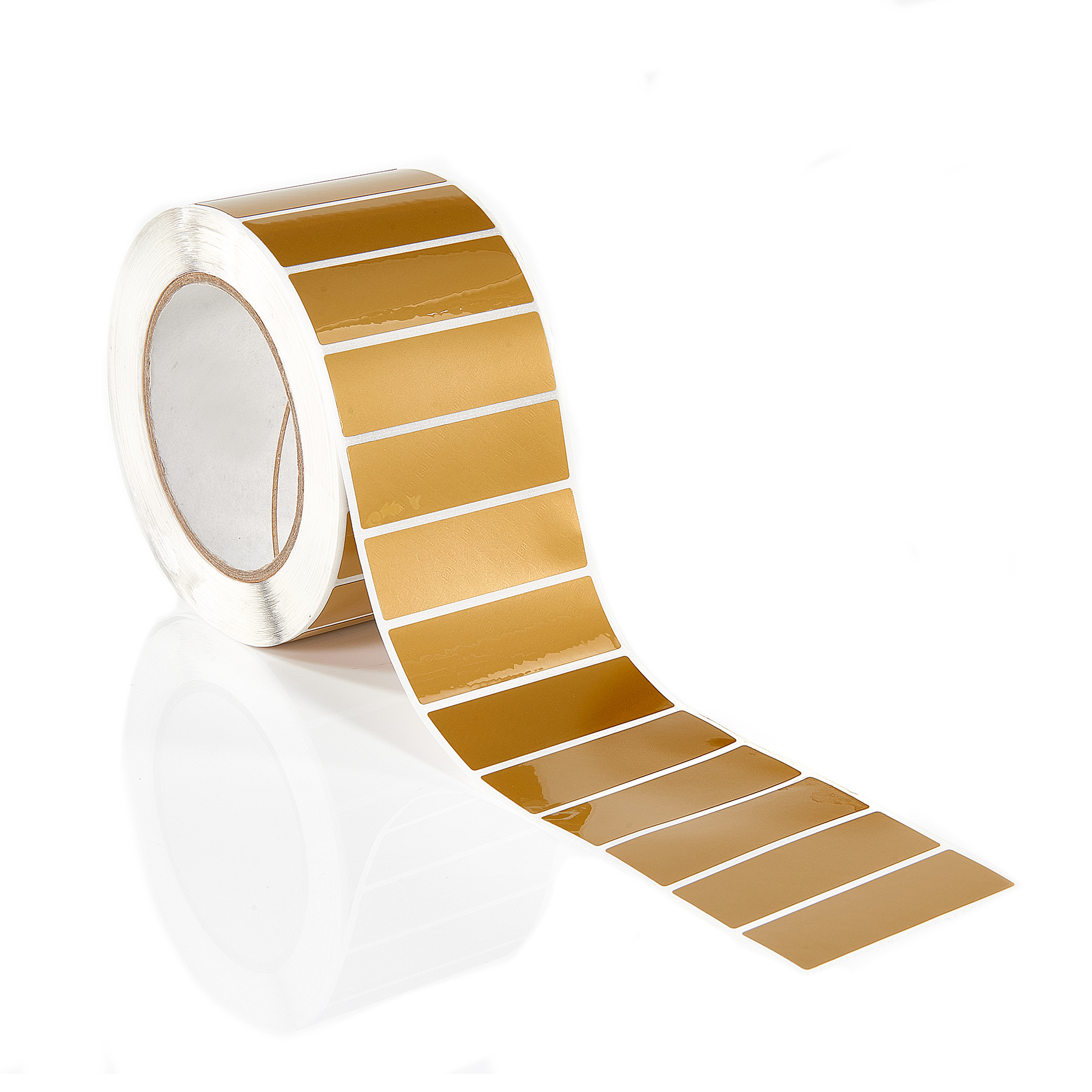 Gold non Residue tamper evident label