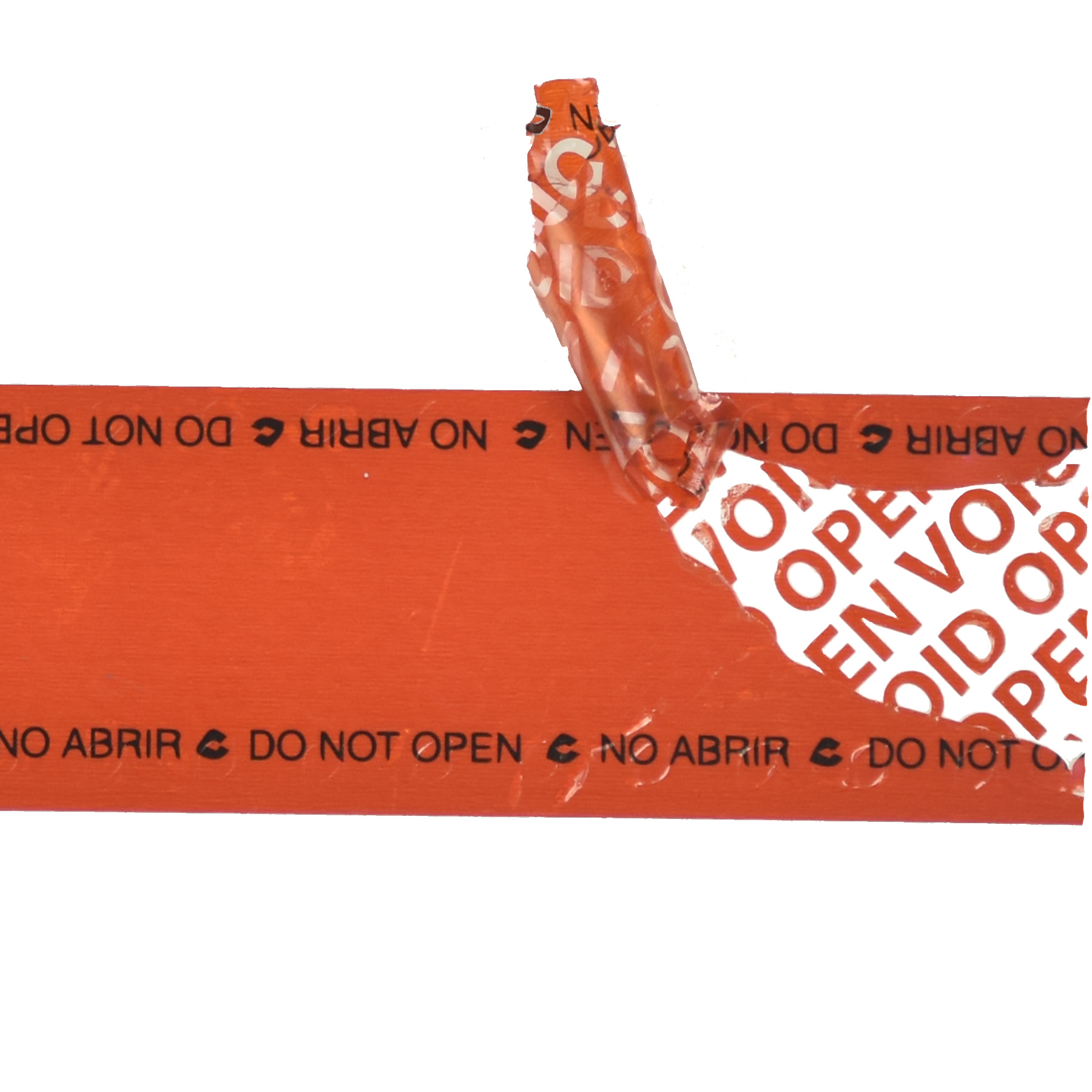 tamper evident bag tape with security cuts voided