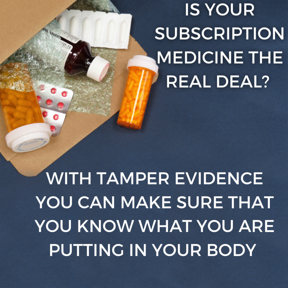 Medicine pouring out of box without tamper evidence