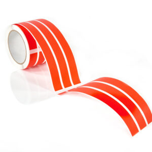 Red large non residue tamper evident labels