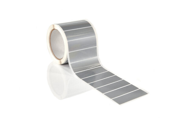 Gloss Silver Tamper Evident Labels on Roll