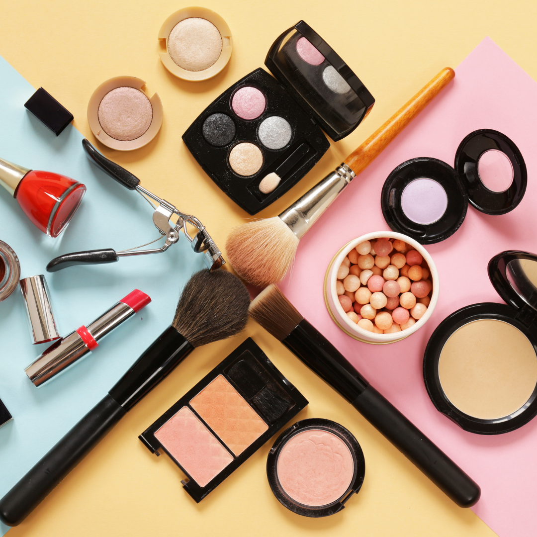 collection of genuine cosmetics protected by tamper evidence